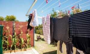 Save electricity by switching to hanging out laundry rather than using the tumble dryer.