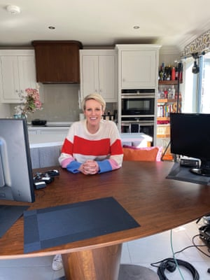 Steph McGovern presenting a show from her own house