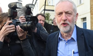 Jeremy Corbyn leaves his house in London after the local election results.