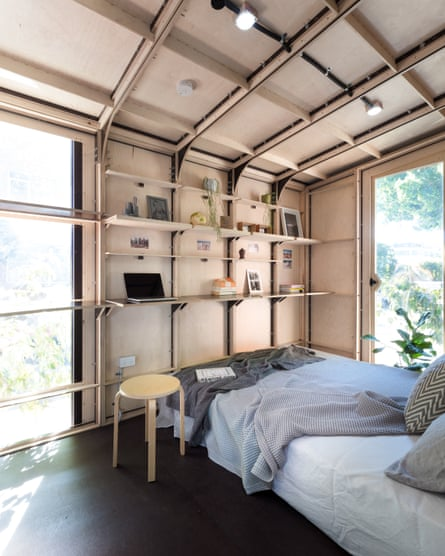 The compact interior of one of Big World Homes tiny homes