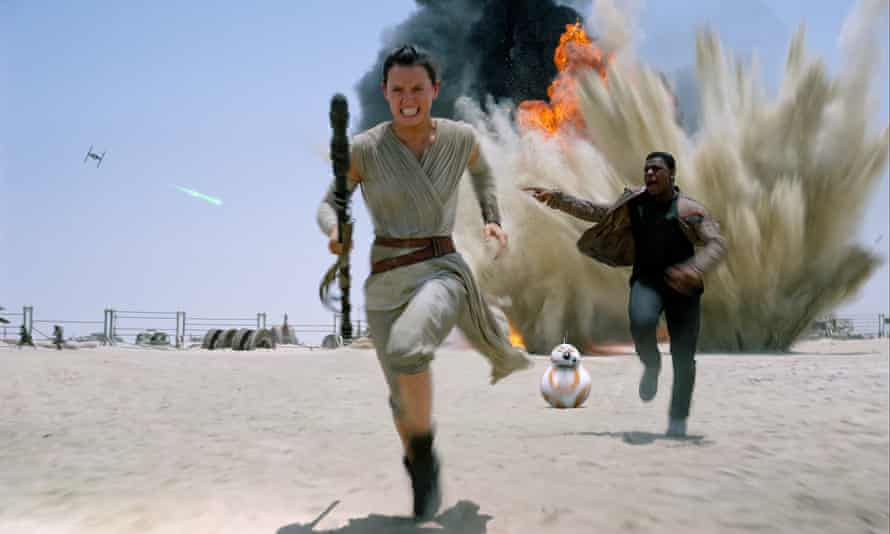 Daisy Ridley and John Boyega in the forthcoming Star Wars: The Force Awakens