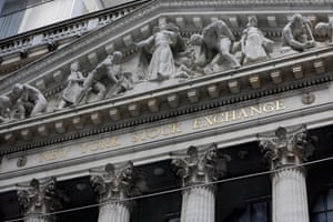 The facade of the New York Stock Exchange/