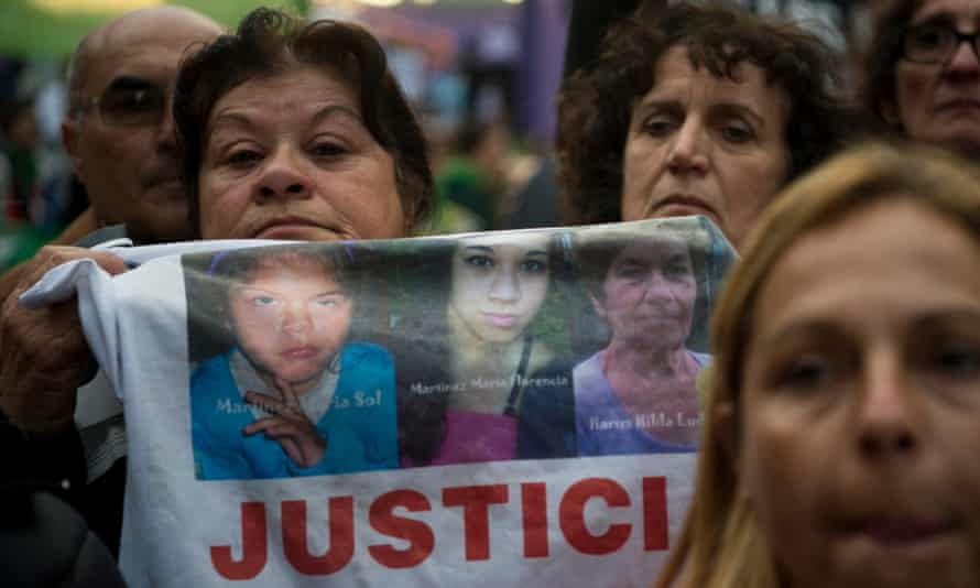 """People take part in the """"Ni una menos"""" (Not One Less) march against femicides in Buenos Aires, on June 3, 2016."""