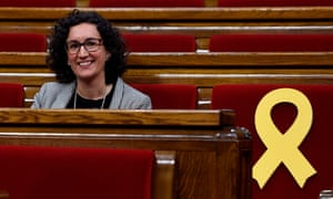 """Marta Rovira, who announced she was taking """"the road to exile""""."""