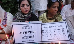 Candlelight protest  in New Delhi against killing of Mohammed Akhlaq