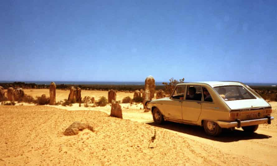 Gina Wilkinson's family car, a Renault, in the Pinnacles