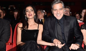 Clooney with his wife, Amal, at the premiere of Hail, Caesar! in Berlin, February 2016.