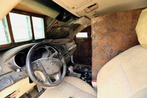 Inside an Isis suicide bomb car