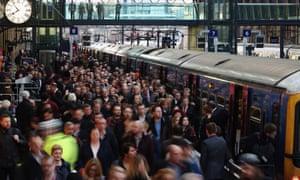 Rush Hour At King's Cross Train