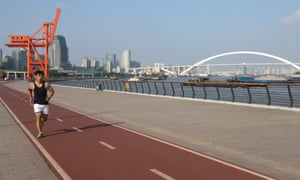 New West Bund running track and riverside routes for Cities.