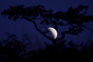The partial eclipse in Brasilia, Brazil