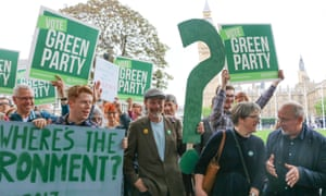 Green Party supporters in central London.