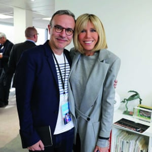Philippe Besson with Brigitte Macron.