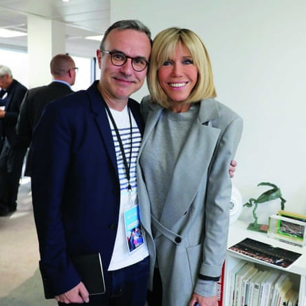 Philippe Besson with Brigitte Macron.