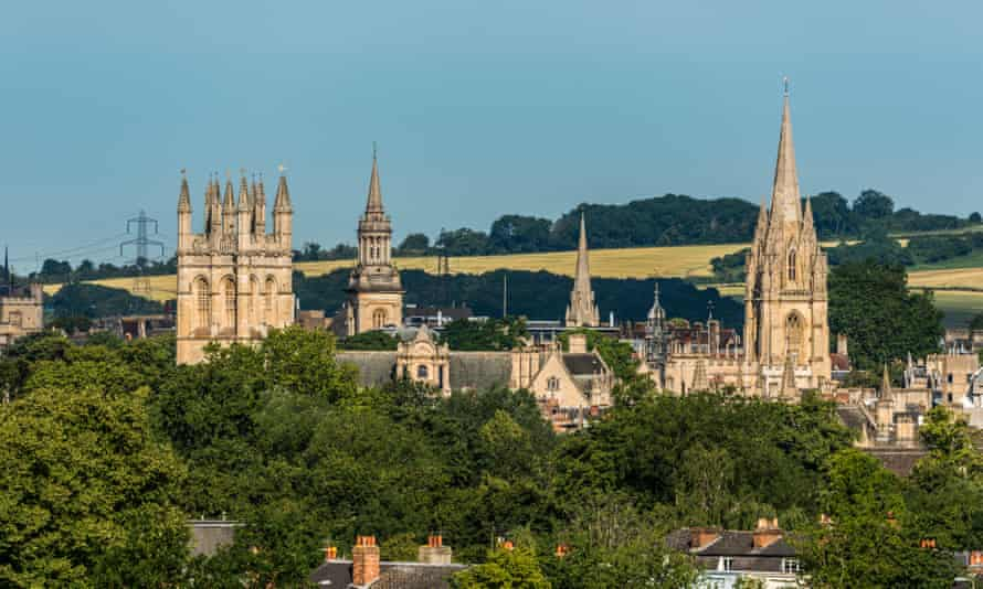 The spires of Oxford University, including University Church of St Mary