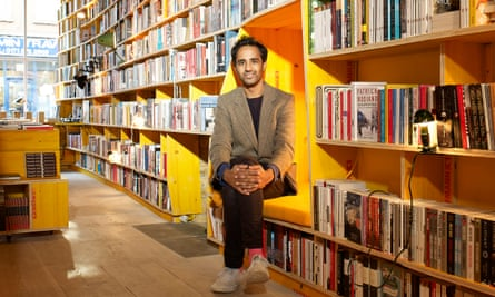 Rohan Silva photographed inside Libreria, east London, by Suki Dhanda for the Observer New Review.