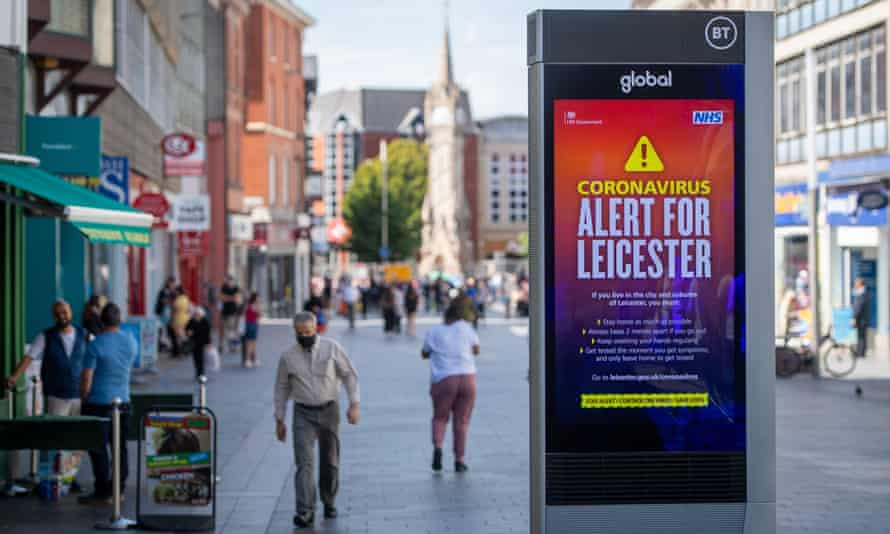 A public information notice in Leicester city centre in July