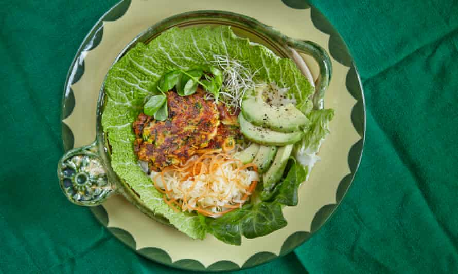 David Frenkiel and Luise Vindahl's halloumi veggie burgers