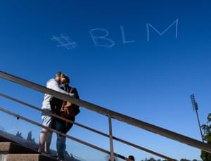 Skywriting in Sydney before the rally.