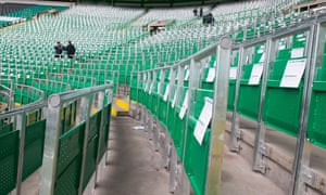 Representatives of Celtic addressed a meeting of Liverpool fans, where the issue of rail seating was fully vented.