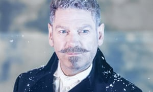 Train of thought … Kenneth Branagh practising his Poirot moustache in The Winter's Tale.