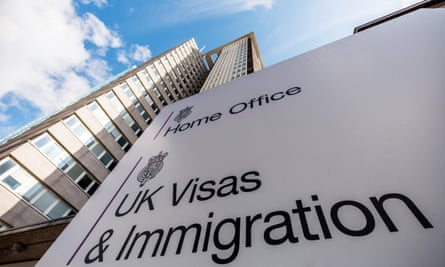 The Home Office UK Visas & Immigration office at Croydon, London. New immigration rules came into effect in January 2018.