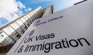 Immigration office at the Home Office, UK