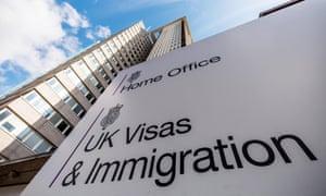 Home Office UK Visas & Immigration sign outside building