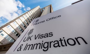 The Home Office's visas and immigration centre at Lunar House in Croydon, London.