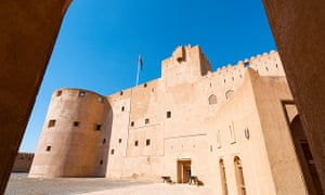 Exterior view of historic Jabrin Fort in Oman.