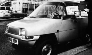 The Enfield 8000, the first electric car to go into production since the Second World War, circa 1971.