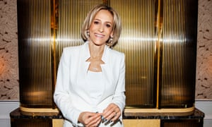 'If you interrupt somebody too early, if you miss it and don't interrupt at all – that's the difference between a good interview and a bad interview…': Emily Maitlis wears a jacket and trousers by www.zara.com.