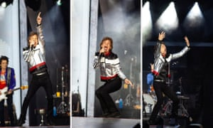 Jagger in action at London Stadium. Photographs by Antonio Olmos for the Observer
