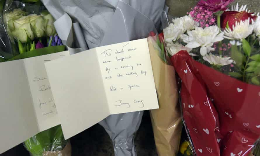 Flowers and a card signed by Jeremy Corbyn were left in the underpass where the homeless man was found dead.