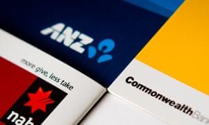 ANZ, NAB and Commonwealth Bank logos