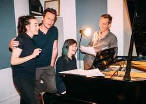 Vocally intimate... Jessie Shelton, Jonathan Groff, Ellen Winter, Chris Littler