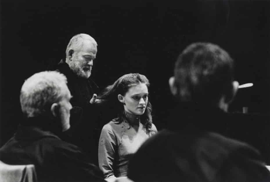 Ian Holm with Anne-Marie Duff as Cordelia in the National's 1997 production of King Lear.