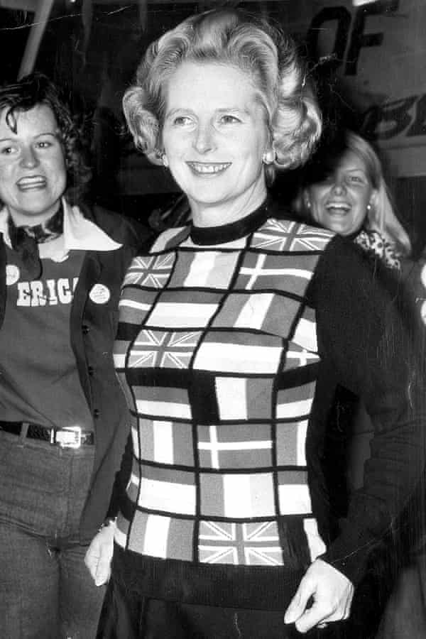 Margaret Thatcher at a pro-market rally, 1975.
