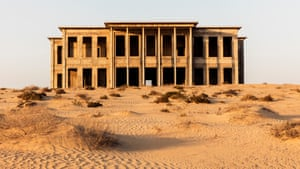 Sharjah, United Arab Emirates A partially finished mansion, specified by the Sheikh of Sharjah, lies abandoned in the desert.