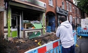 A halal butchers in Walsall that was firebombed.