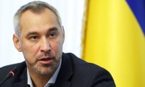 Ukraine's prosecutor general Ruslan Ryaboshapka