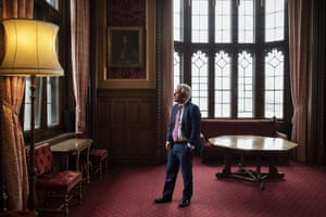 John Bercow poses for a portrait inside the House of Commons in 2019