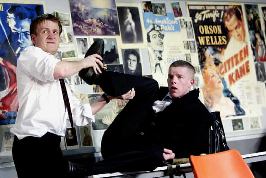 Tovey with Jamie Parker in The History Boys at the National Theatre in 2004.