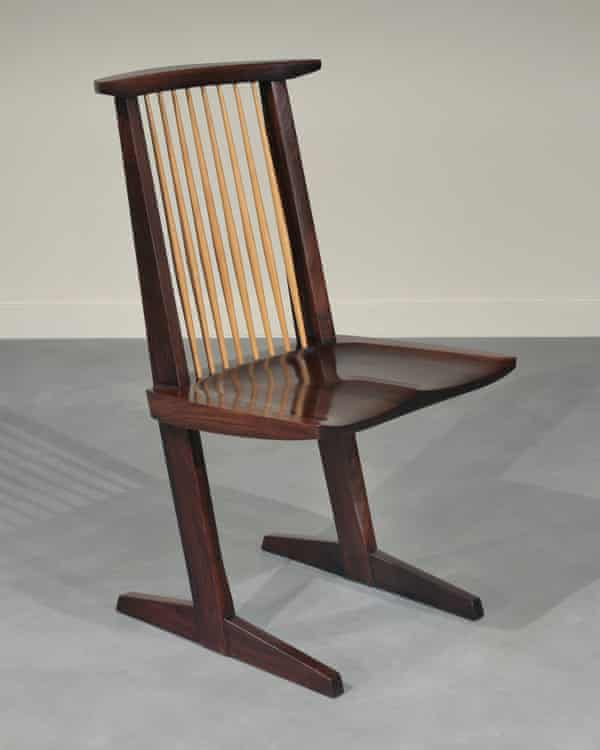 A rosewood Conoid chair made by Nakashima in the 1970s