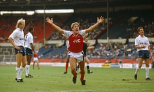 Paul Merson scored the opening goal for Arsenal in the first ever North London Derby at Wembley.