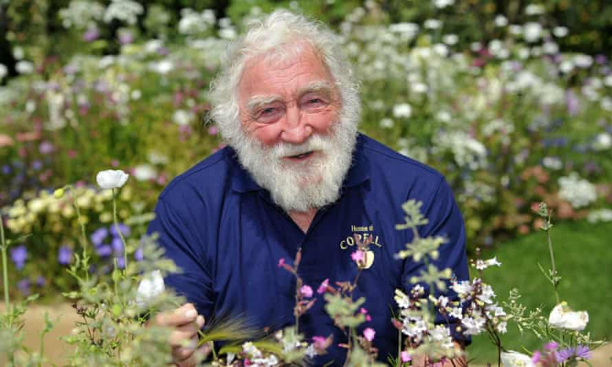 A not-so-green giant ... David Bellamy at the RHS Hampton Court Palace Flower Show in 2011.