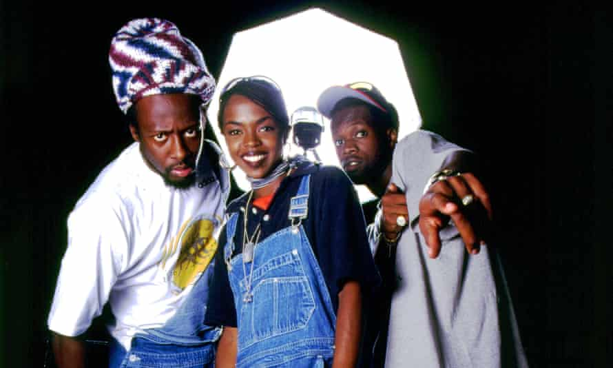 The Fugees in 1996: (L-R) Wyclef Jean, Lauryn Hill and Pras.