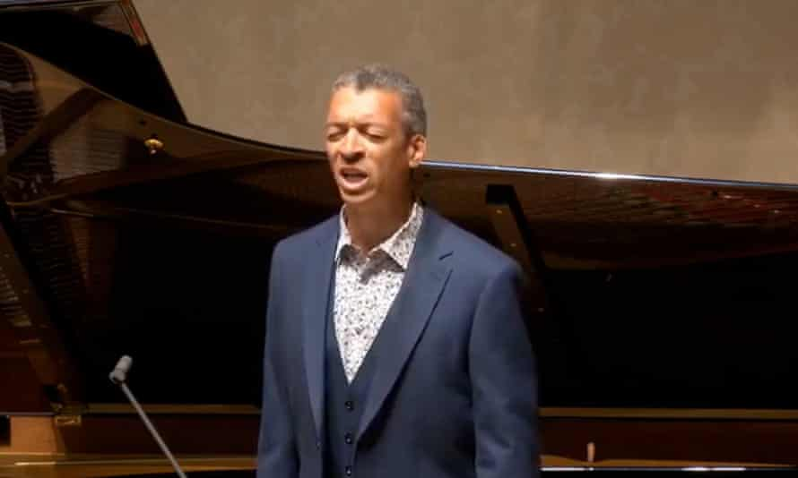 Roderick Williams performs at Wigmore Hall earlier this year