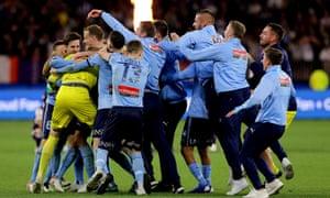 Sydney FC celebrate