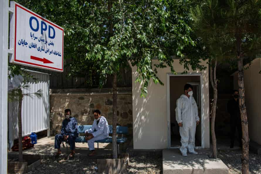 A medic outside the Afghan-Japan hospital's outpatient department